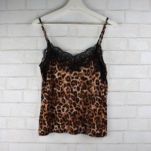 Zara Trafulac Cheetah Lace Tank Top